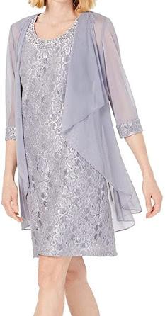 Elegant Silver Mother of The Groom Dresses