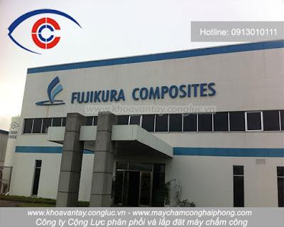 Phân phối và lắp đặt hệ thống máy chấm công vân tay Ronald Jack X938C tại công ty TNHH Fujikura Composites Hải Phòng - KCN Nomura.