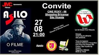 """""""ASILO A Última Curva da Vida O Filme no Cine"""", ROXY 6 - Shopping Brisamar - São Vicente"""