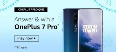 Oneplus 7 Pro Amazon Quiz