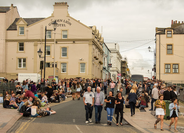 Photo of Maryport's Shipping Brow during the blues festival