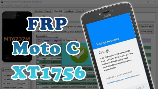 borrar \ eliminar cuenta Google Motorola Moto C XT1756