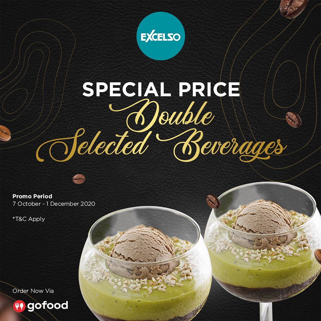 Promo EXCELSO COFFEE Special Price Double Selected Beverages mulai Rp 65.000 Order via GOFOOD