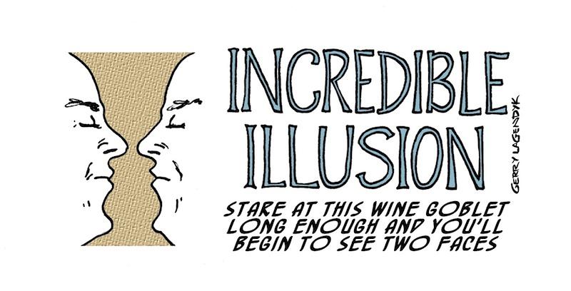 illusion cartoon, Stranger Than Truth