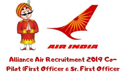 Alliance Air Recruitment 2019 for Co-Pilot (First Officer and Sr. First Officer