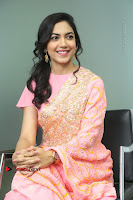 Actress Ritu Varma Pos in Beautiful Pink Anarkali Dress at at Keshava Movie Interview .COM 0229.JPG