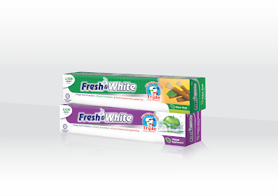 FRESH & WHITE KAYU SUGI EXTRACT TOOTHPASTE FOR PURE AND CLEAN ORAL HEALTH THE ISLAMIC WAY