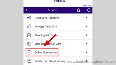 Choose Online Nomination option
