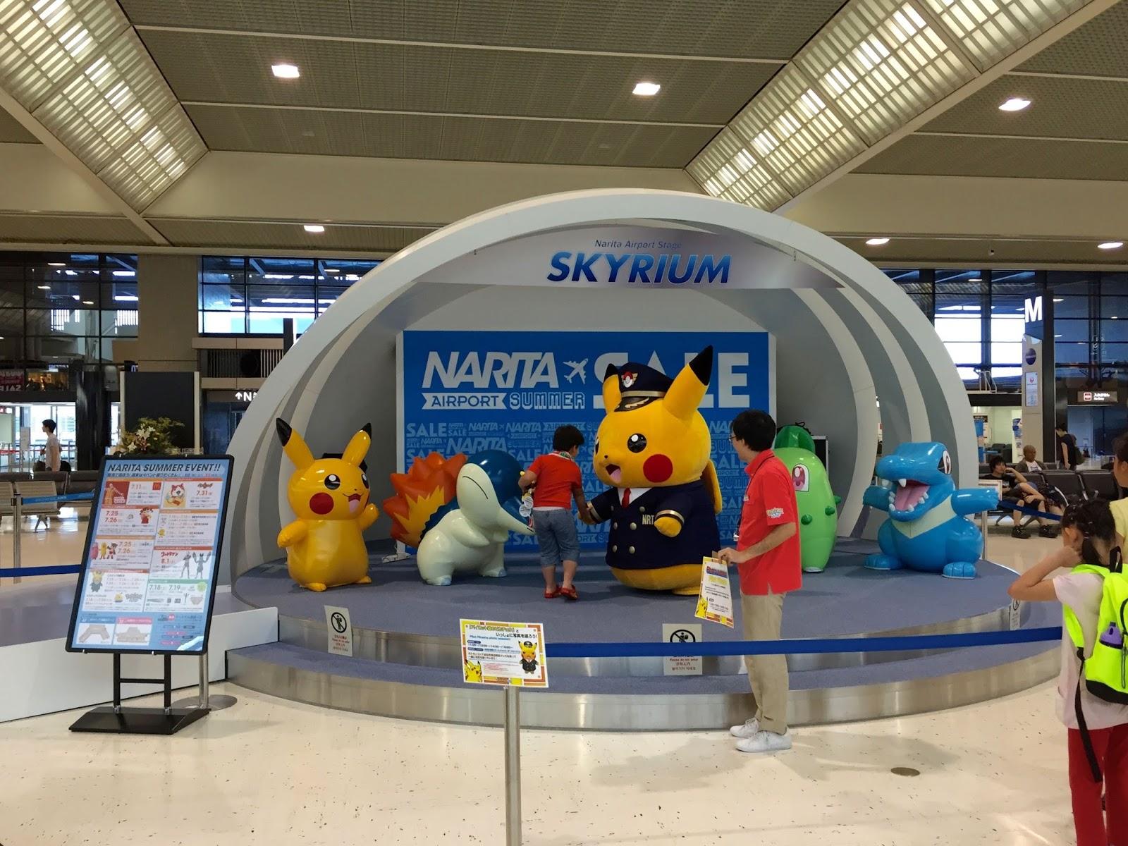 成田空港のピカチュウ naritaairport-pikachu