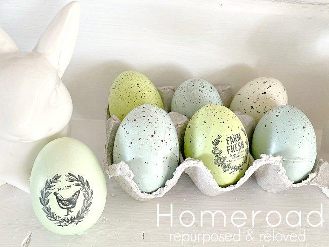 DIY Farmhouse Easter Eggs and a bunny