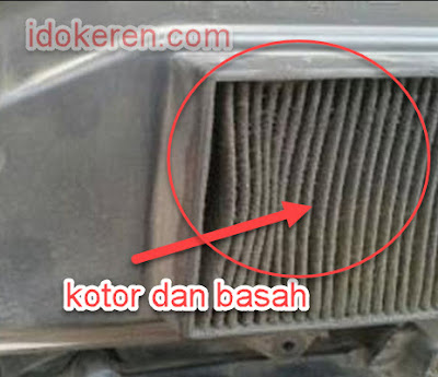 filter udara basah dan kotor