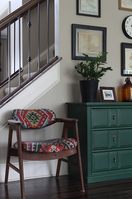 Green dresser, velvet finishes, forest green, DIY, painted furniture