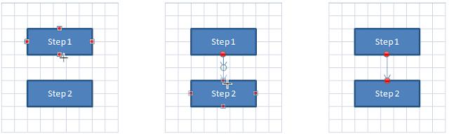 Menambahkan Panah Penghubung Antar Shapes