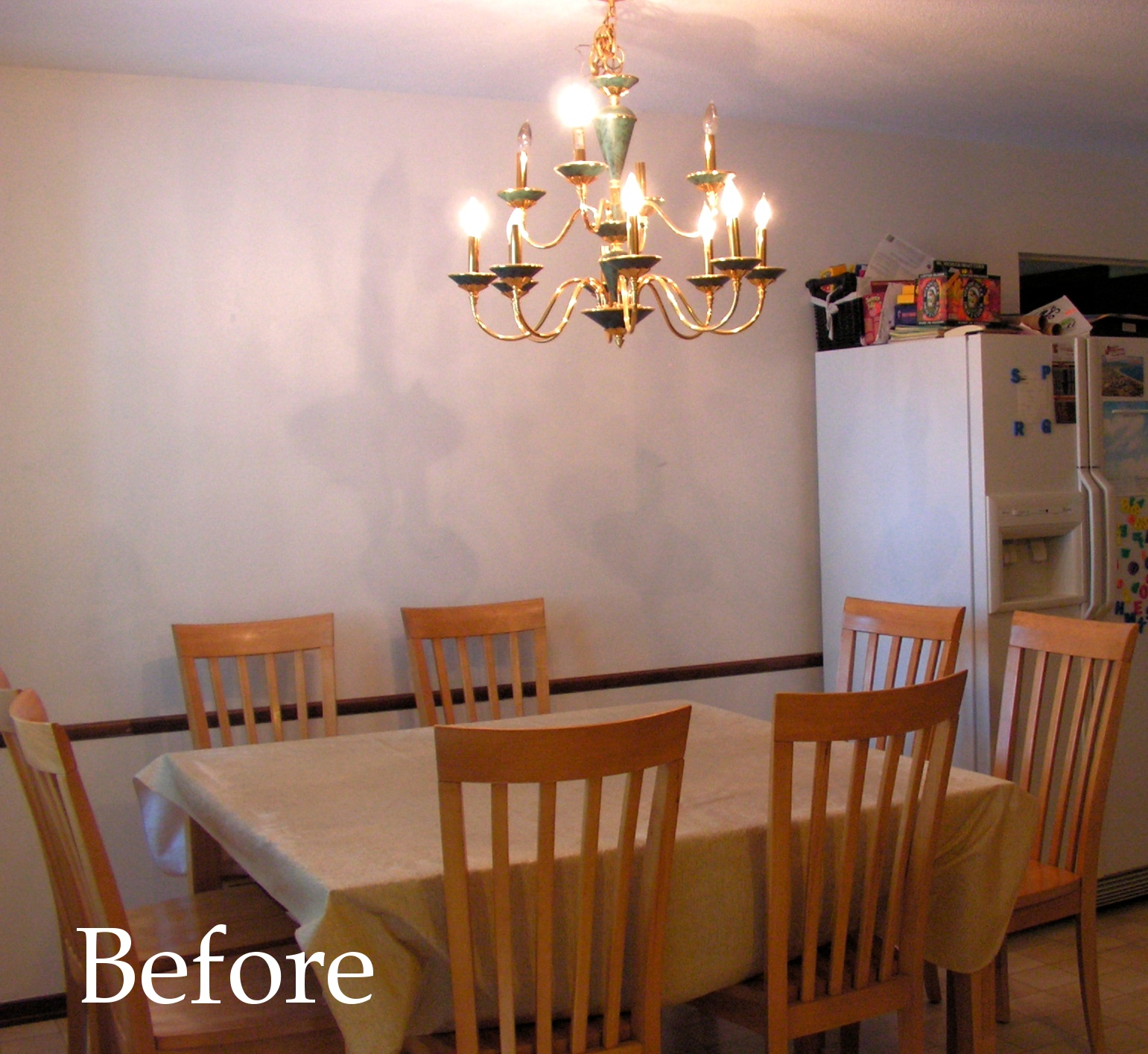 Painting Dining Room Chandelier: Nest Full Of Eggs: DIY Painted Chandelier
