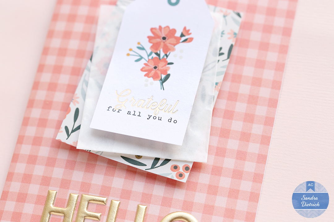 Hello Fall card with layered embellishment