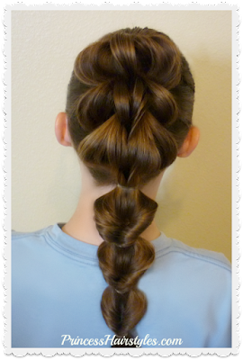 3 Strand pull through braid and flip braid or faux fishtail instructions.