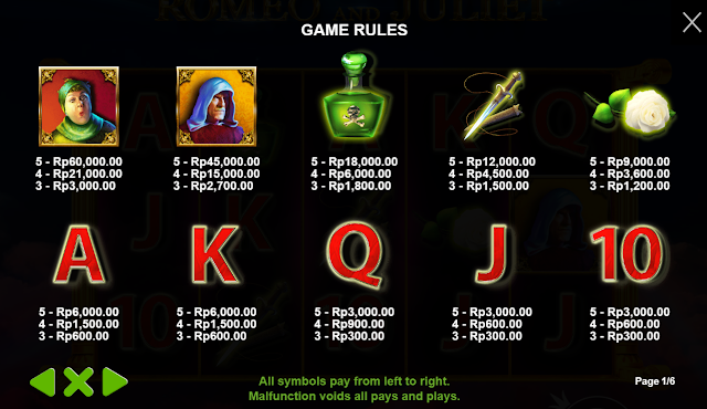 DAFTAR AGEN JUDI SLOT MESIN GAMES ROMEO AND JULIET