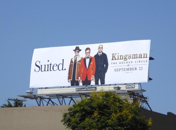 Kingsmen Golden Circle movie billboard