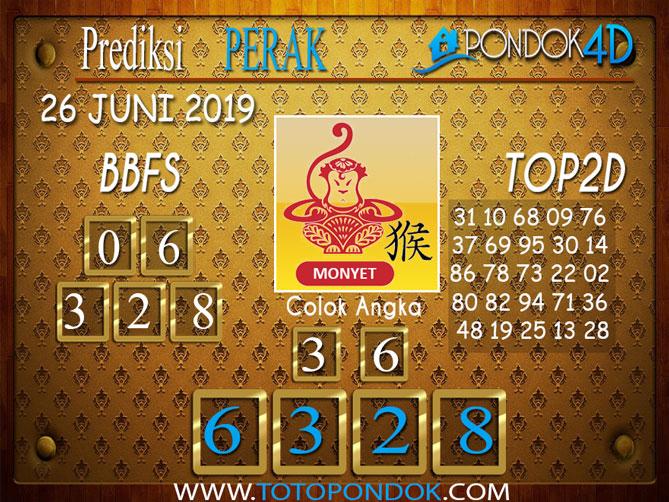 Prediksi Togel PERAK PONDOK4D 26 JUNI 2019