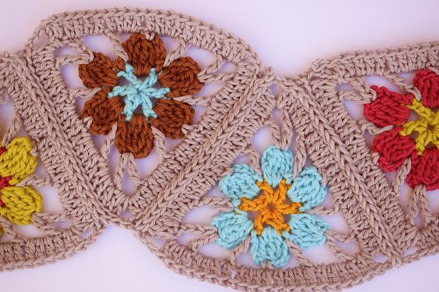 2 - Crochet Imagen Puntada de triangulos flores a crochet y ganchillo por Majovel Crochet