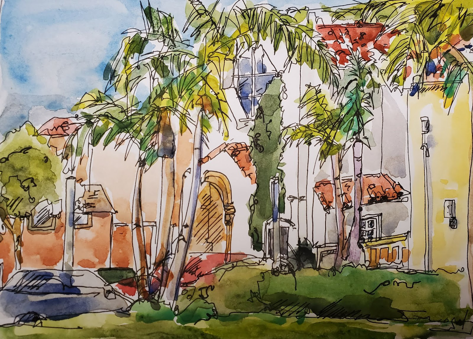 Luce Court And Legacy Plaza San Diego Urban Sketchers