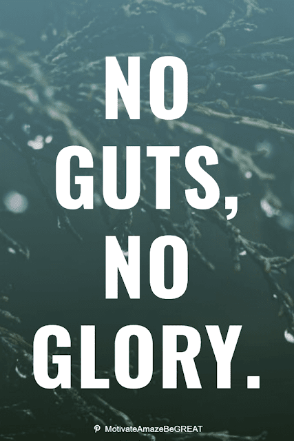"""Wise Old Sayings And Proverbs: """"No guts, no glory."""""""