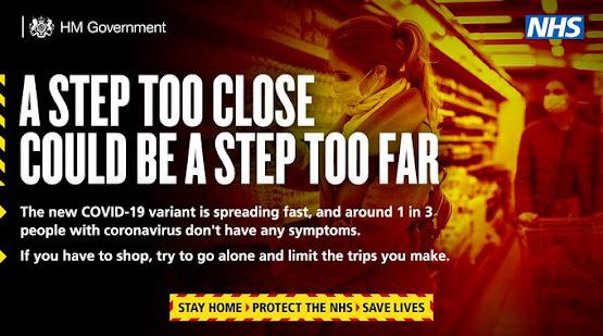 uk govt shopping go alone stay apart