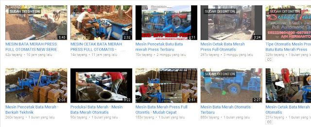 Demo Video Produksi Bata Merah Full Otomatis