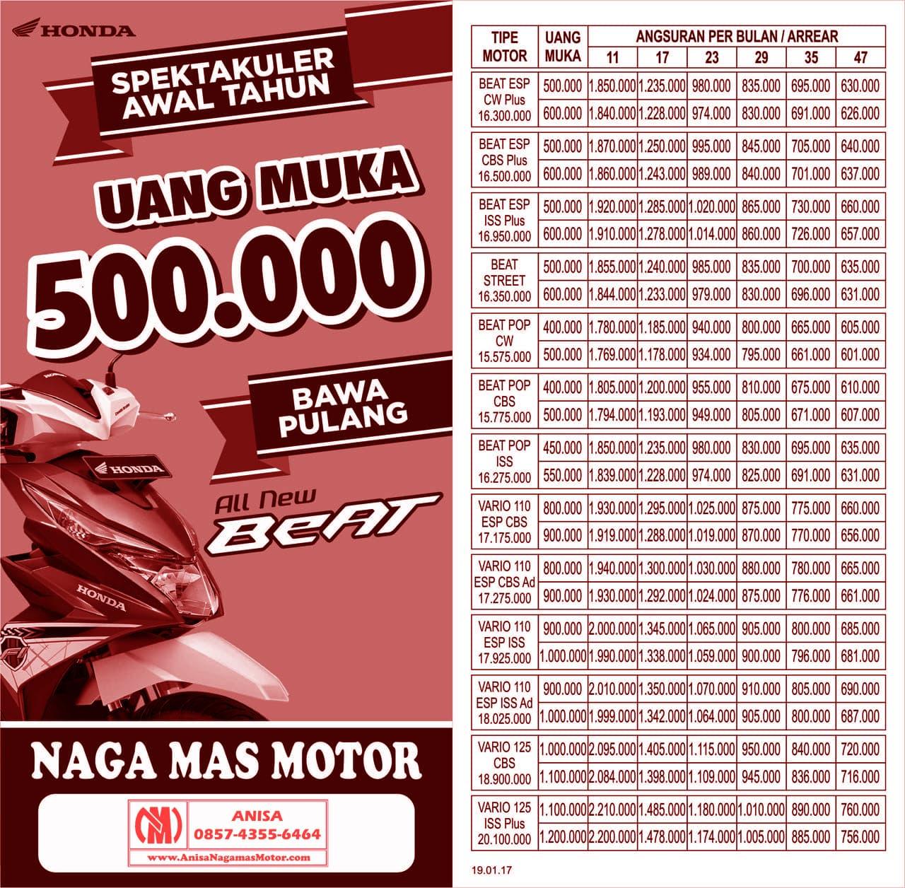Anisa Counter Sales Dealer Nagamas Motor Klaten New Vario 110 Esp Cbs Iss Grande White Brebes Promo Spektakuler Awal Tahun 2017