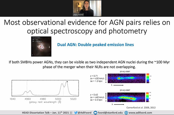 Double peaked emission lines from dual AGNs (Source: Adi Foord, 237th AAS Meeting)