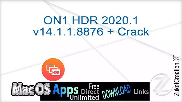 ON1 HDR 2020.1 v14.1.1.8876 + Cracked