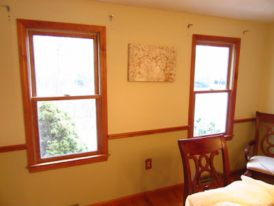 dining room in Taunton, MA. before painting.