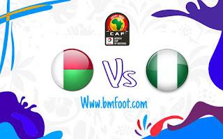 لعبة نيجيريا مدغشقر مباشر