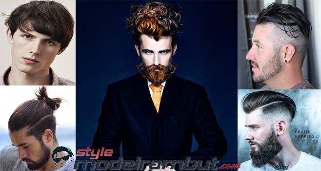 nama model rambut pria