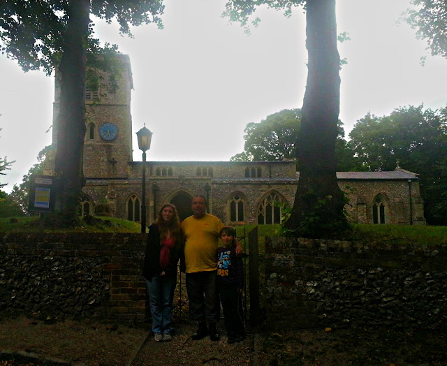 Outside Bledlow Church