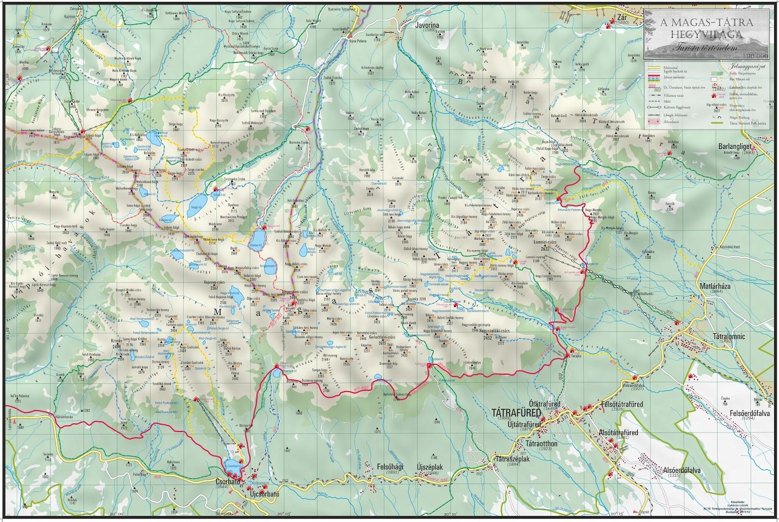 zakopane térkép magas tatra.info: Történelmi Tátra térkép zakopane térkép