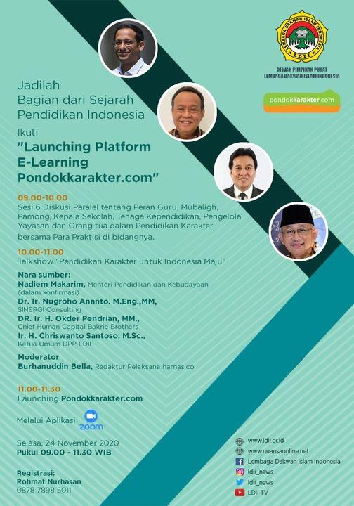 Lauching Platform E-Learning Pondokkarakter.com