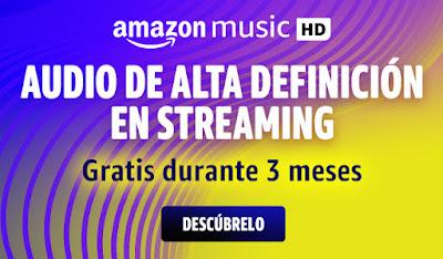 Prueba gratis Amazon Music HD durante 90 días