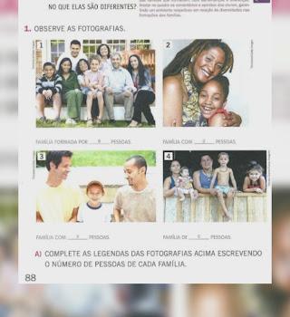 Retirada de páginas didáticas com familias do mesmo sexo é uma afronta, diz MEC