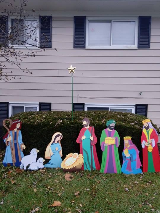 i chose the nativity yard stakes to display in our front yard i just love them they are made of metal and are very easy to assemble and store back in the - Religious Christmas Yard Decorations