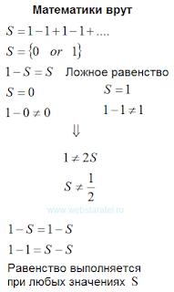 Математики врут. Один минус один плюс один. Математика для блондинок.
