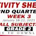 GRADE 2 ACTIVITY SHEETS (2nd Quarter: WEEK 3)