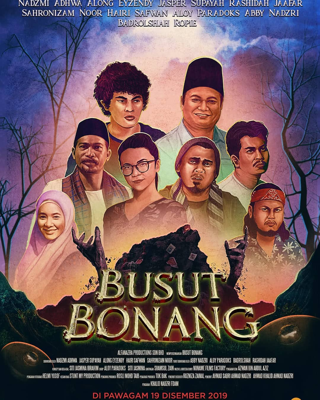 Filem Busut Bonang lakonan Nadzmi Adhwa dan Along Eyzendy