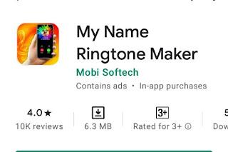 अपने नाम का ringtone बनाने वाला apps
