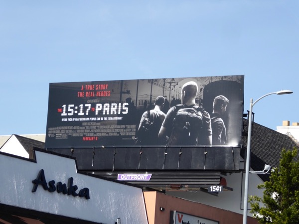 15:17 to Paris movie billboard