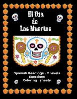 Dia de los muertos readings, activities and more decorative packet cover by Lonnie Dai Zovi