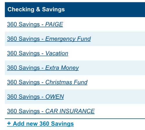 saving with Capitol One 360