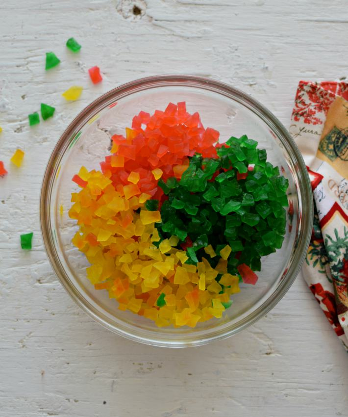 Cómo hacer frutas confitadas caseras con papaya de tres colores: verde, roja y amarillo