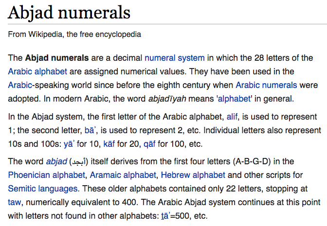 Numbers In Arabic Language