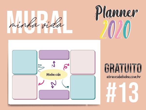 Planner 2020 #13: Mural Áreas da Minha Vida download gratuito